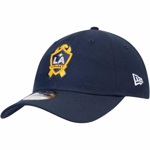 ニューエラ NEW ERA キック 紺 ネイビー バッグ キャップ 帽子 メンズキャップ メンズ 【 La Galaxy Mls Works Kick Childhood Cancer 9twenty Adjustable Hat - Navy 】 Navy