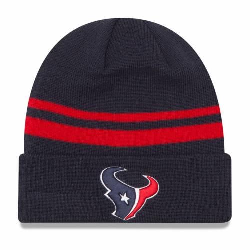 ニューエラ NEW ERA ヒューストン テキサンズ チーム ロゴ ニット 紺 ネイビー バッグ キャップ 帽子 メンズキャップ メンズ 【 Houston Texans Team Logo Cuffed Knit Hat - Navy 】 Navy