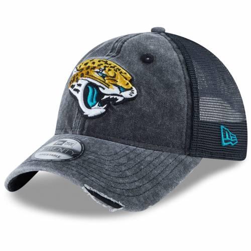 ニューエラ NEW ERA ジャクソンビル ジャガース トラッカー 黒 ブラック バッグ キャップ 帽子 メンズキャップ メンズ 【 Jacksonville Jaguars Tonal Washed 2 Trucker 9twenty Adjustable Hat - Black 】 Black