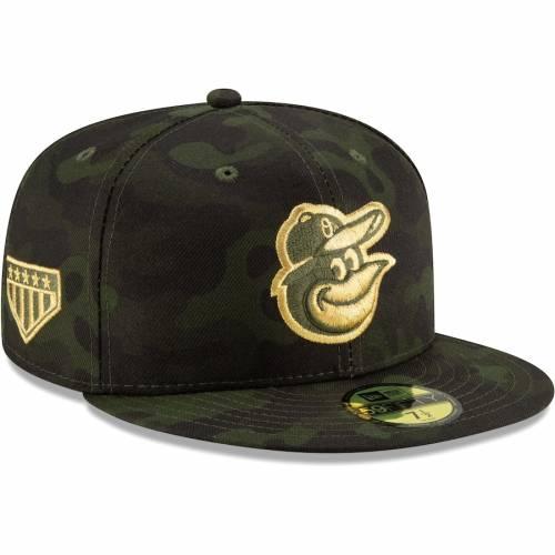 ニューエラ NEW ERA ボルティモア オリオールズ バッグ キャップ 帽子 メンズキャップ メンズ 【 Baltimore Orioles 2019 Mlb Armed Forces Day On-field 59fifty Fitted Hat - Camo 】 Camo