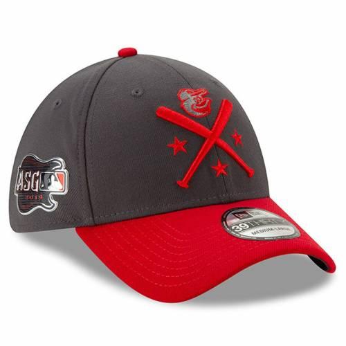 ニューエラ NEW ERA ボルティモア オリオールズ ワークアウト バッグ キャップ 帽子 メンズキャップ メンズ 【 Baltimore Orioles 2019 Mlb All-star Workout 39thirty Flex Hat - Graphite/red 】 Graphite/red