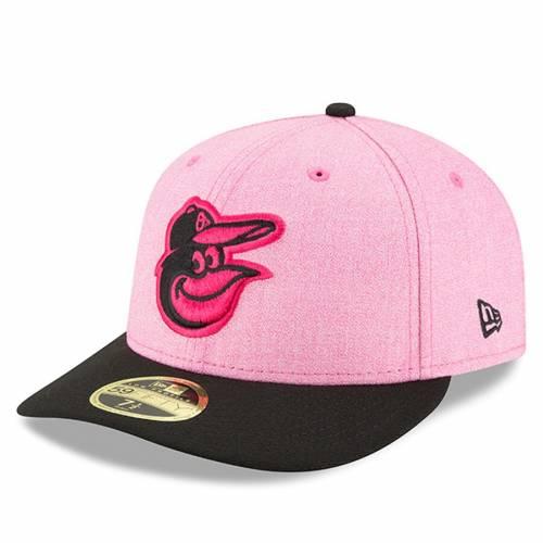 ニューエラ NEW ERA ボルティモア オリオールズ バッグ キャップ 帽子 メンズキャップ メンズ 【 Baltimore Orioles 2018 Mothers Day On-field Low Profile 59fifty Fitted Hat - Pink/black 】 Pink/black