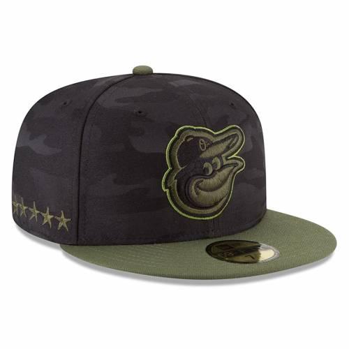 ニューエラ NEW ERA ボルティモア オリオールズ 黒 ブラック バッグ キャップ 帽子 メンズキャップ メンズ 【 Baltimore Orioles 2018 Memorial Day On-field 59fifty Fitted Hat - Black 】 Black