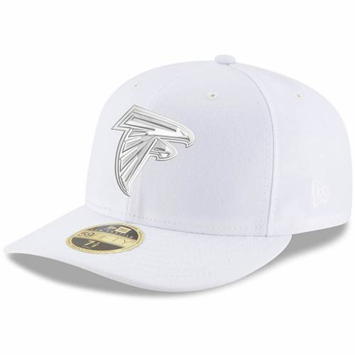 ニューエラ NEW ERA アトランタ ファルコンズ 白 ホワイト バッグ キャップ 帽子 メンズキャップ メンズ 【 Atlanta Falcons White On White Low Profile 59fifty Fitted Hat 】 Color