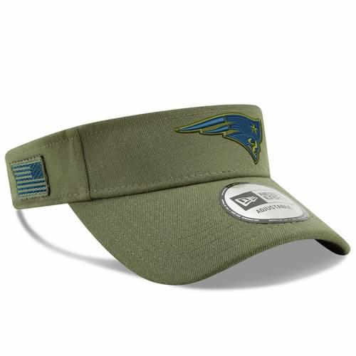 ニューエラ NEW ERA ペイトリオッツ オリーブ バッグ キャップ 帽子 メンズキャップ メンズ 【 New England Patriots 2018 Salute To Service Visor - Olive 】 Olive