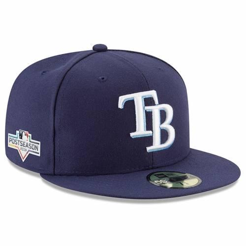 ニューエラ NEW ERA レイズ 紺 ネイビー バッグ キャップ 帽子 メンズキャップ メンズ 【 Tampa Bay Rays 2019 Postseason Side Patch 59fifty Fitted Hat - Navy 】 Navy