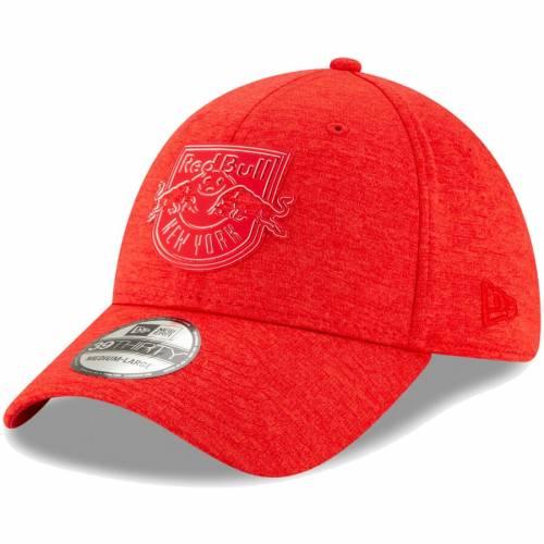 ニューエラ NEW ERA 赤 レッド ブルズ ロゴ バッグ キャップ 帽子 メンズキャップ メンズ 【 New York Red Bulls Logo Shade 39thirty Flex Hat - Red 】 Red