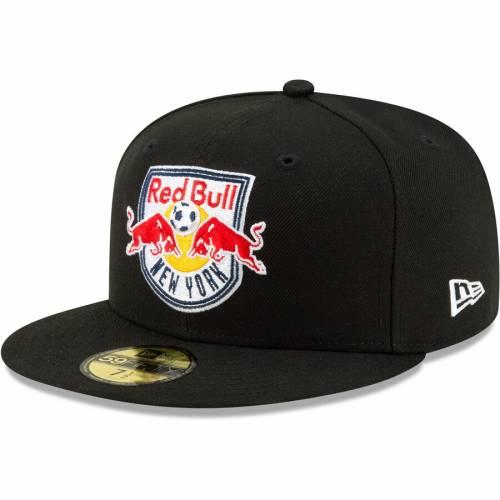 ニューエラ NEW ERA 赤 レッド ブルズ ロゴ 黒 ブラック バッグ キャップ 帽子 メンズキャップ メンズ 【 New York Red Bulls Primary Logo 59fifty Fitted Hat - Black 】 Black