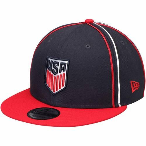 ニューエラ NEW ERA サッカー チーム スナップバック バッグ キャップ 帽子 メンズキャップ メンズ 【 Us Soccer Y2k Team Soutache 9fifty Adjustable Snapback Hat - Navy/red 】 Navy/red