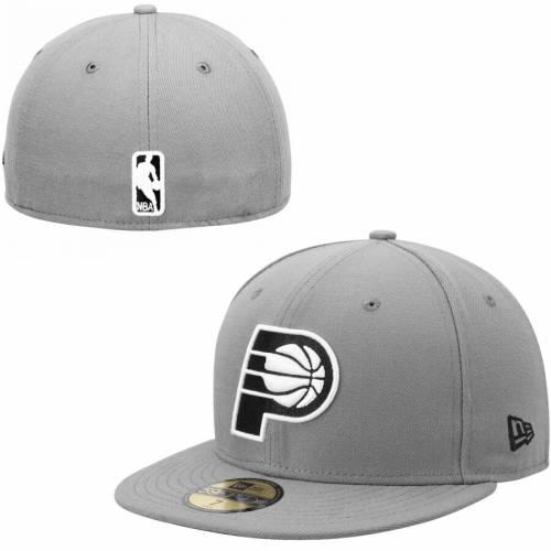 ニューエラ NEW ERA インディアナ ペイサーズ バッグ キャップ 帽子 メンズキャップ メンズ 【 Indiana Pacers 59fifty Fitted Hat - Gray/black 】 Gray/black