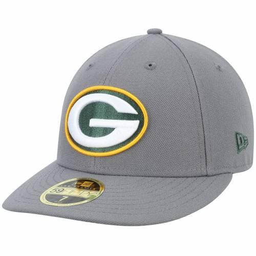 ニューエラ NEW ERA 緑 グリーン パッカーズ バッグ キャップ 帽子 メンズキャップ メンズ 【 Green Bay Packers Storm Low Profile 59fifty Fitted Hat - Graphite 】 Graphite