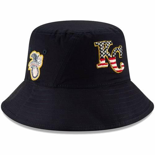 ニューエラ NEW ERA カンザス シティ ロイヤルズ 紺 ネイビー バッグ キャップ 帽子 メンズキャップ メンズ 【 Kansas City Royals 2019 Stars And Stripes 4th Of July Bucket Hat - Navy 】 Navy