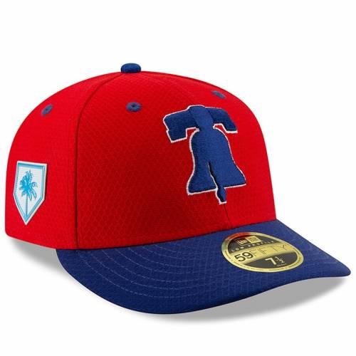 ニューエラ NEW ERA フィラデルフィア フィリーズ スプリング トレーニング バッグ キャップ 帽子 メンズキャップ メンズ 【 Philadelphia Phillies 2019 Spring Training Low Profile 59fifty Fitted Hat - Red/bl