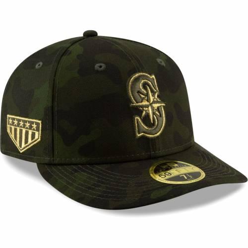 ニューエラ NEW ERA シアトル マリナーズ バッグ キャップ 帽子 メンズキャップ メンズ 【 Seattle Mariners 2019 Mlb Armed Forces Day On-field Low Profile 59fifty Fitted Hat - Camo 】 Camo