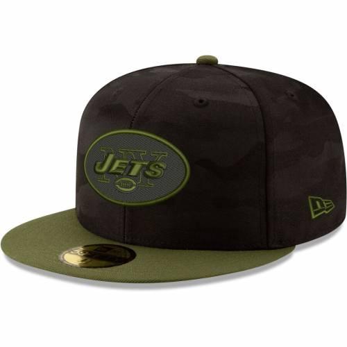 ニューエラ NEW ERA ジェッツ バッグ キャップ 帽子 メンズキャップ メンズ 【 New York Jets Camo Royale 59fifty Fitted Hat - Black/olive 】 Black/olive