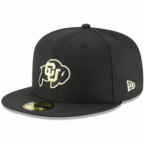 ニューエラ NEW ERA コロラド 黒 ブラック バッグ キャップ 帽子 メンズキャップ メンズ 【 Colorado Buffaloes Ncaa Basic 59fifty Gcp Fitted Hat - Black 】 Black