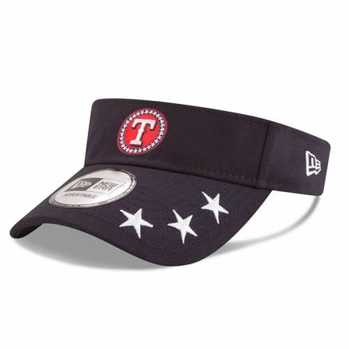 ニューエラ NEW ERA テキサス レンジャーズ ワークアウト 紺 ネイビー バッグ キャップ 帽子 メンズキャップ メンズ 【 Texas Rangers 2018 Mlb All-star Workout Visor - Navy 】 Navy
