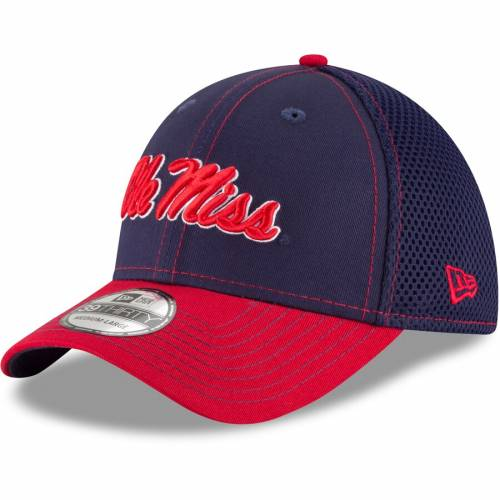ニューエラ NEW ERA チーム ロゴ ネオ バッグ キャップ 帽子 メンズキャップ メンズ 【 Ole Miss Rebels Team Front Logo Neo 39thirty Flex Hat - Navy/red 】 Navy/red