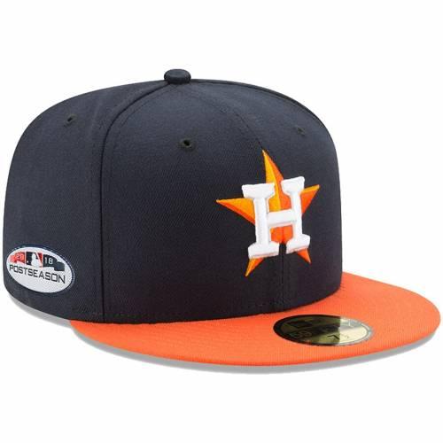 ニューエラ NEW ERA ヒューストン アストロズ バッグ キャップ 帽子 メンズキャップ メンズ 【 Houston Astros 2018 Postseason Side Patch 59fifty Fitted Hat - Navy/orange 】 Navy