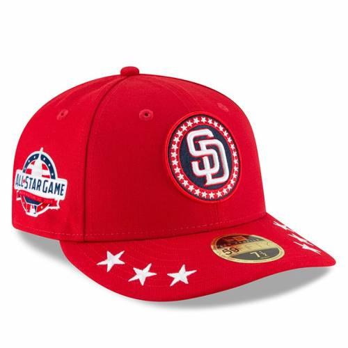 ニューエラ NEW ERA パドレス ワークアウト 赤 レッド バッグ キャップ 帽子 メンズキャップ メンズ 【 San Diego Padres 2018 Mlb All-star Workout On-field Low Profile 59fifty Fitted Hat - Red 】 Red