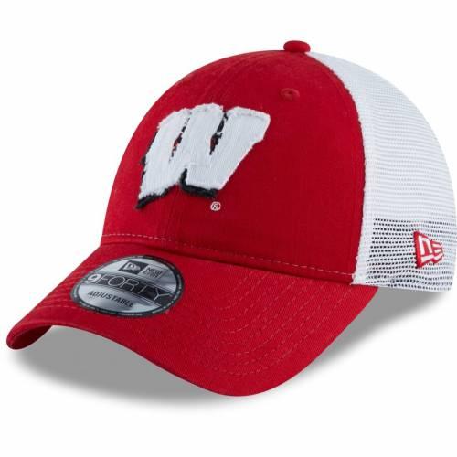 ニューエラ NEW ERA ウィスコンシン チーム スナップバック バッグ トラッカー 赤 レッド キャップ 帽子 メンズキャップ メンズ 【 Wisconsin Badgers Team 9forty Adjustable Snapback Trucker Hat - Red 】 Re