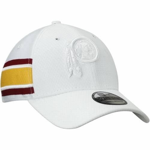 ニューエラ NEW ERA ワシントン レッドスキンズ 白 ホワイト バッグ キャップ 帽子 メンズキャップ メンズ 【 Washington Redskins Kickoff 39thirty Flex Hat - White 】 White