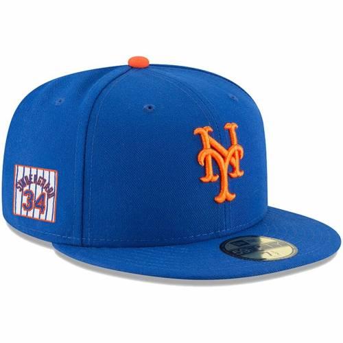 ニューエラ NEW ERA メッツ バッグ キャップ 帽子 メンズキャップ メンズ 【 Noah Syndergaard New York Mets Player Patch 59fifty Fitted Hat - Royal 】 Royal