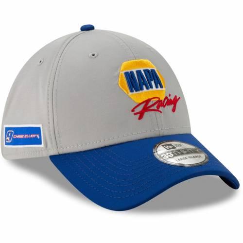 ニューエラ NEW ERA チェイス バッグ キャップ 帽子 メンズキャップ メンズ 【 Chase Elliott Driver 39thirty Flex Hat - Gray/royal 】 Gray/royal