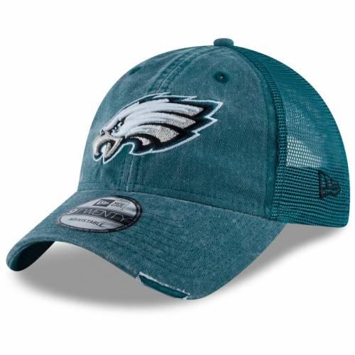 ニューエラ NEW ERA フィラデルフィア イーグルス トラッカー 緑 グリーン バッグ キャップ 帽子 メンズキャップ メンズ 【 Philadelphia Eagles Tonal Washed 2 Trucker 9twenty Adjustable Hat - Midnight Green