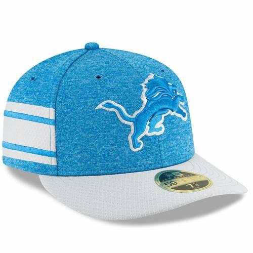 ニューエラ NEW ERA デトロイト ライオンズ サイドライン バッグ キャップ 帽子 メンズキャップ メンズ 【 Detroit Lions 2018 Nfl Sideline Home Official Low Profile 59fifty Fitted Hat - Blue/gray 】 Blue/gray