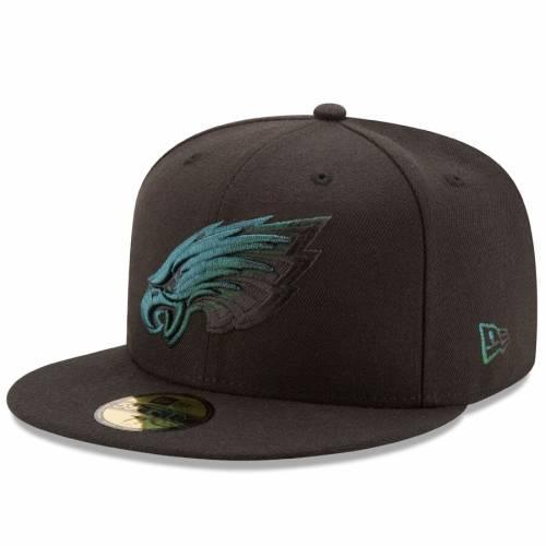 ニューエラ NEW ERA フィラデルフィア イーグルス 黒 ブラック バッグ キャップ 帽子 メンズキャップ メンズ 【 Philadelphia Eagles Color Dim 59fifty Fitted Hat - Black 】 Black