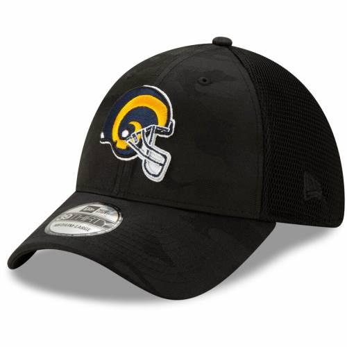 ニューエラ NEW ERA ラムズ ネオ ヘルメット ロゴ 黒 ブラック バッグ キャップ 帽子 メンズキャップ メンズ 【 Los Angeles Rams Camo Front Neo Helmet Logo 39thirty Flex Hat - Black 】 Black