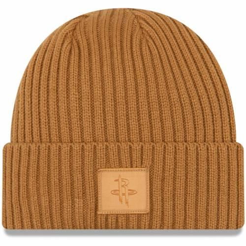 ニューエラ NEW ERA ヒューストン ロケッツ ニット バッグ キャップ 帽子 メンズキャップ メンズ 【 Houston Rockets Label Cuffed Knit Hat - Tan 】 Tan