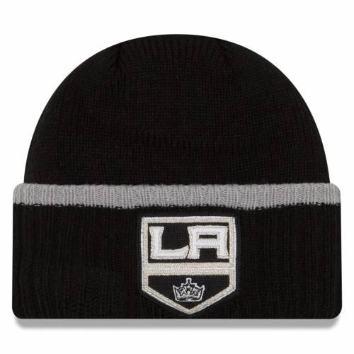 ニューエラ NEW ERA キングス チーム ニット キャップ 帽子 黒 ブラック バッグ メンズキャップ メンズ 【 Los Angeles Kings Ribbed Up Team Cuffed Knit Hat Knit Beanie - Black 】 Black