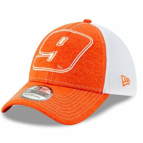 ニューエラ NEW ERA チェイス バッグ キャップ 帽子 メンズキャップ メンズ 【 Chase Elliott Tonal Shade Number 39thirty Flex Hat - Orange/white 】 Orange/white