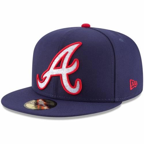 ニューエラ NEW ERA アトランタ ブレーブス 紺 ネイビー バッグ キャップ 帽子 メンズキャップ メンズ 【 Atlanta Braves Patriotic Turn 59fifty Fitted Hat - Navy 】 Navy