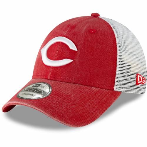 ニューエラ NEW ERA シンシナティ レッズ クーパーズタウン コレクション トラッカー 赤 レッド バッグ キャップ 帽子 メンズキャップ メンズ 【 Cincinnati Reds Cooperstown Collection 1869 Trucker 9fo