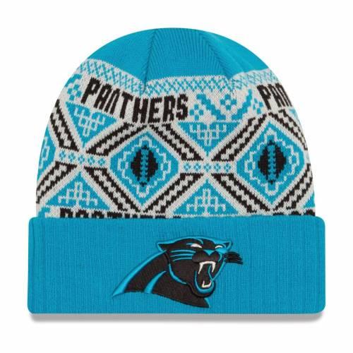 ニューエラ NEW ERA カロライナ パンサーズ ニット 青 ブルー バッグ キャップ 帽子 メンズキャップ メンズ 【 Carolina Panthers Cozy Cuffed Knit Hat - Blue 】 Blue