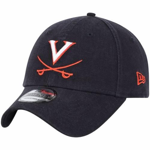 ニューエラ NEW ERA バージニア キャバリアーズ チーム コア 紺 ネイビー バッグ キャップ 帽子 メンズキャップ メンズ 【 Virginia Cavaliers Team Core 9twenty Adjustable Hat - Navy 】 Navy