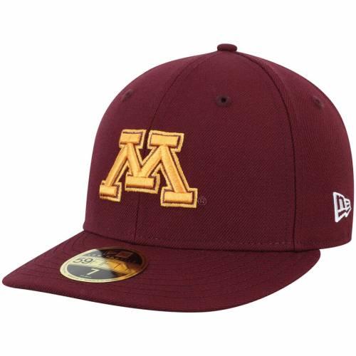 ニューエラ NEW ERA ミネソタ バッグ キャップ 帽子 メンズキャップ メンズ 【 Minnesota Golden Gophers Basic Low Profile 59fifty Fitted Hat - Maroon 】 Maroon