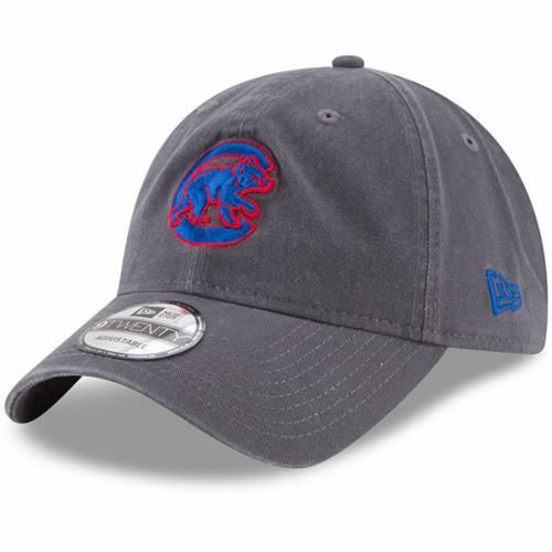 ニューエラ NEW ERA シカゴ カブス ロゴ コア クラシック バッグ キャップ 帽子 メンズキャップ メンズ 【 Chicago Cubs Crawling Bear Logo Core Classic 9twenty Adjustable Hat - Graphite 】 Graphite