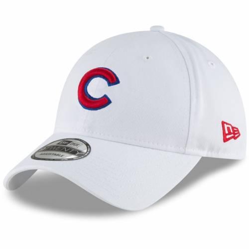 ニューエラ NEW ERA シカゴ カブス ロゴ コア クラシック バッグ キャップ 帽子 メンズキャップ メンズ 【 Chicago Cubs Crawling Bear Logo Core Classic 9twenty Adjustable Hat - Graphite 】 White