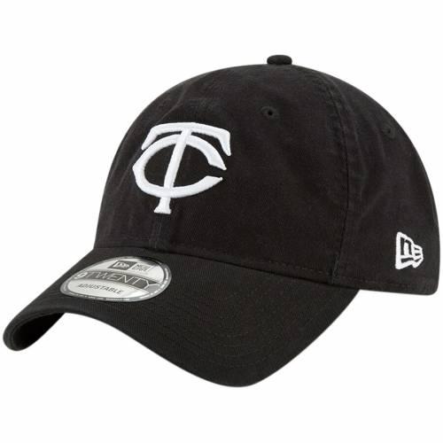 ニューエラ NEW ERA ミネソタ ツインズ コア クラシック 黒 ブラック バッグ キャップ 帽子 メンズキャップ メンズ 【 Minnesota Twins Core Classic Twill 9twenty Adjustable Hat - Black 】 Black