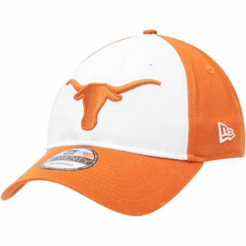ニューエラ NEW ERA テキサス チーム ロゴ コア クラシック 橙 オレンジ バッグ キャップ 帽子 メンズキャップ メンズ 【 Texas Longhorns Team Logo Core Classic Twill 9twenty Adjustable Hat - White/texas Orange