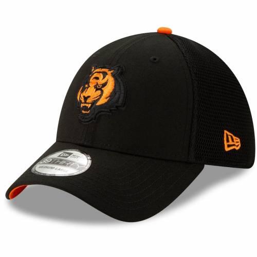 ニューエラ NEW ERA シンシナティ ベンガルズ 黒 ブラック バッグ キャップ 帽子 メンズキャップ メンズ 【 Cincinnati Bengals 2t Sided 39thirty Flex Hat - Black 】 Black
