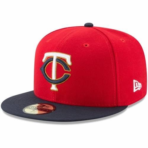 ニューエラ NEW ERA ミネソタ ツインズ オーセンティック コレクション 紺 ネイビー バッグ キャップ 帽子 メンズキャップ メンズ 【 Minnesota Twins Home Authentic Collection On-field 59fifty Fitted Hat -