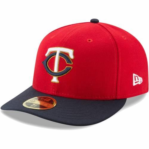 ニューエラ NEW ERA ミネソタ ツインズ オーセンティック コレクション フィールド 紺 ネイビー バッグ キャップ 帽子 メンズキャップ メンズ 【 Minnesota Twins Authentic Collection On Field Low Profi