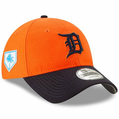 ニューエラ NEW ERA デトロイト タイガース スプリング トレーニング バッグ キャップ 帽子 メンズキャップ メンズ 【 Detroit Tigers 2019 Spring Training 9twenty Adjustable Hat - Orange/navy 】 Orange/navy