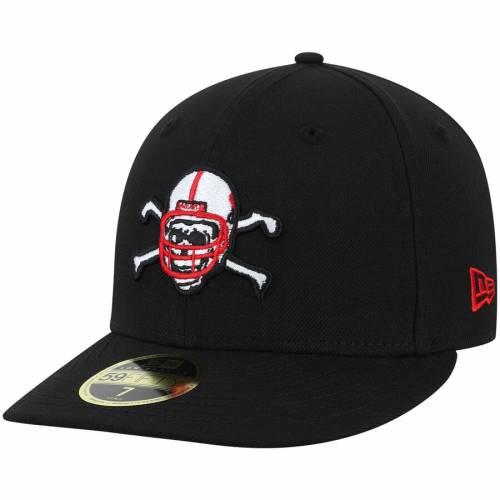ニューエラ NEW ERA バッグ キャップ 帽子 メンズキャップ メンズ 【 Nebraska Cornhuskers Basic Low Profile 59fifty Fitted Hat - Scarlet 】 Black
