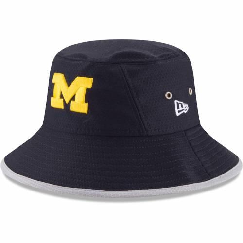 ニューエラ NEW ERA ミシガン チーム 紺 ネイビー バッグ キャップ 帽子 メンズキャップ メンズ 【 Michigan Wolverines Hex Team Bucket Hat - Navy 】 Navy